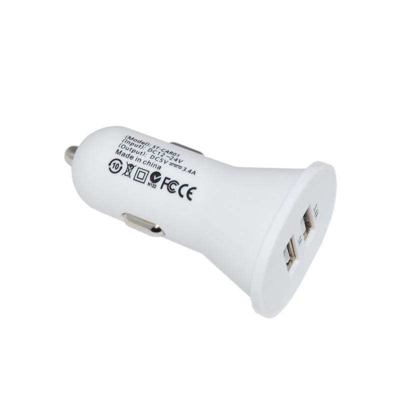 双USB车充  5V3.4A  大电流